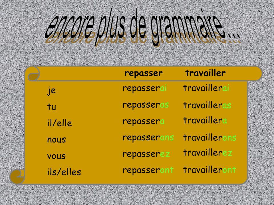 Verbe à linfinitif - er Avoir au présent + ai / as / a / ons / ez / ont