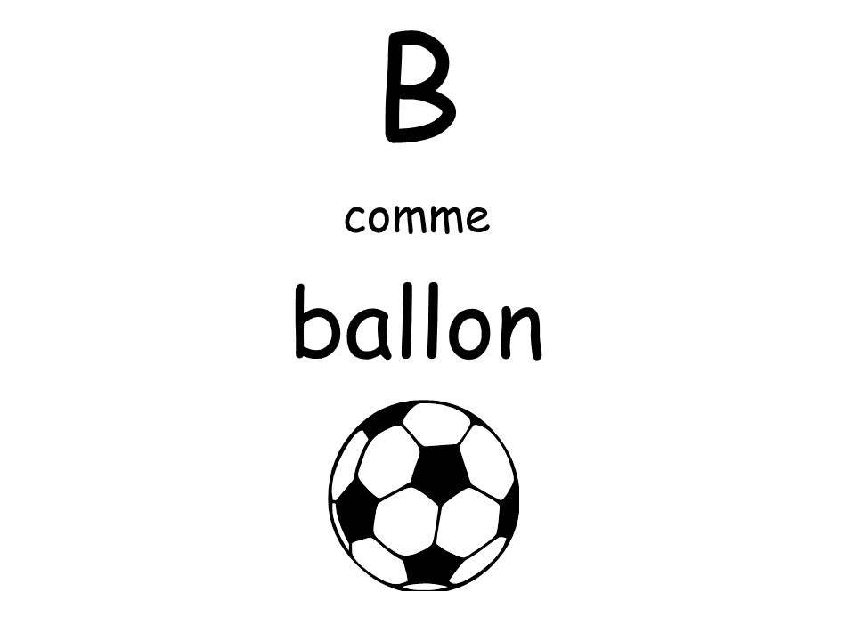 B comme ballon
