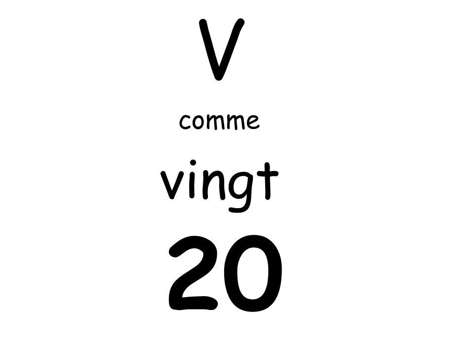 V comme vingt 20