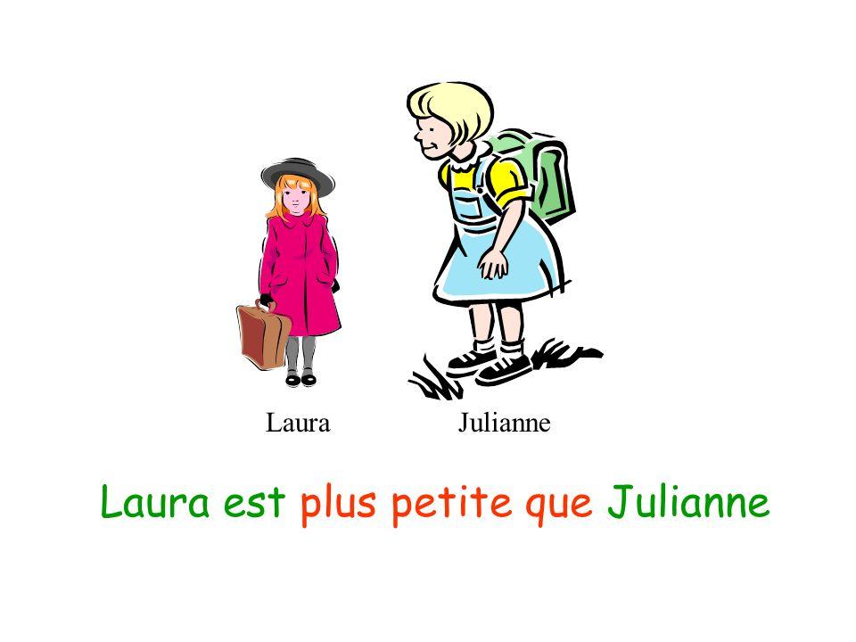 LauraJulianne Julianne est plus grande que Laura
