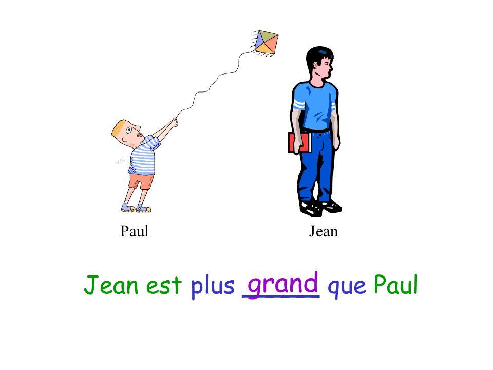 Le plus petit – the smallest (boy) La plus petite – the smallest (girl) Le plus grand – the tallest (boy) La plus grande – the tallest (girl)