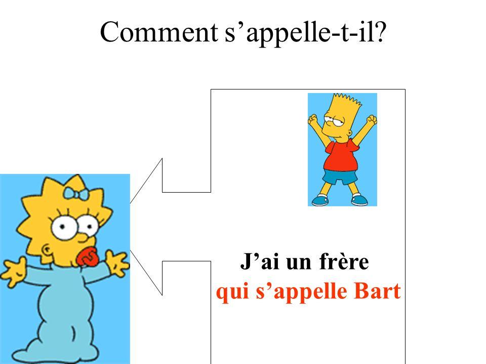 qui sappelle Bart Comment sappelle-t-il?