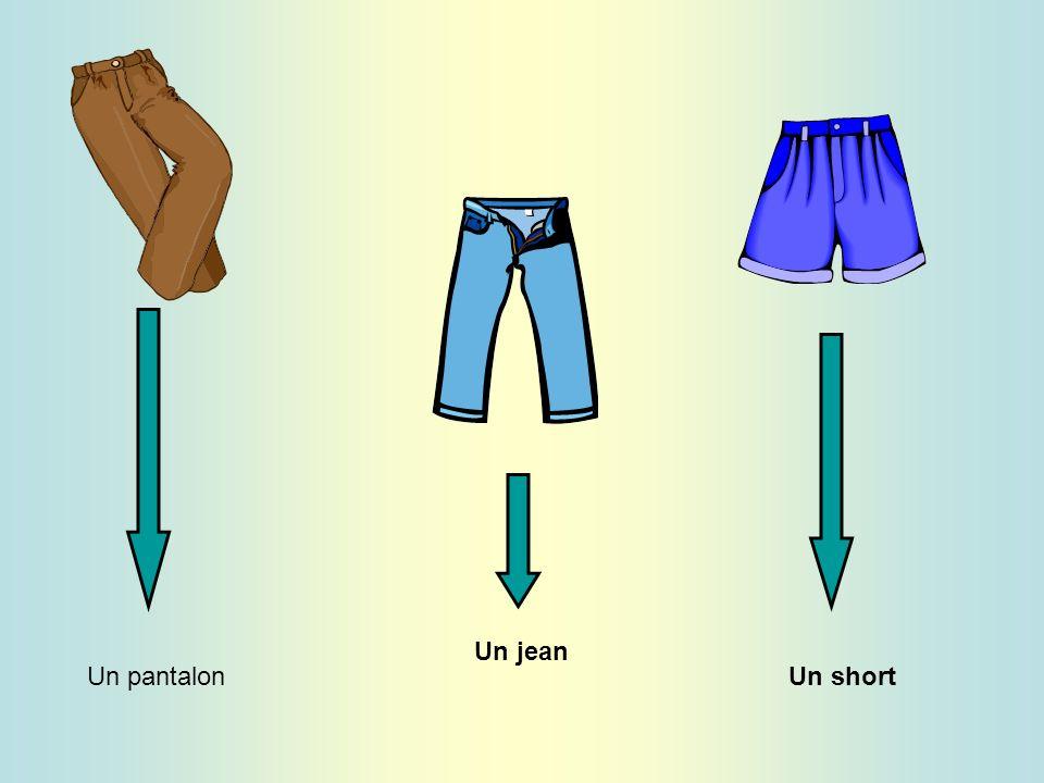 Un pantalon Un jean Un short