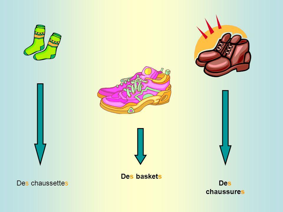 Des chaussettes Des baskets Des chaussures