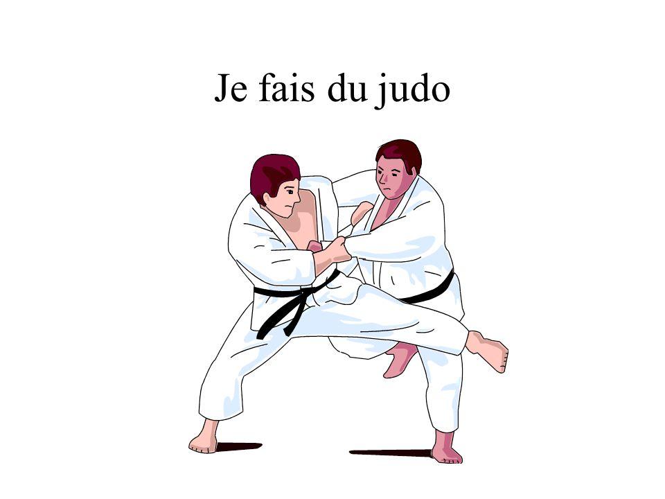 Je fais du judo