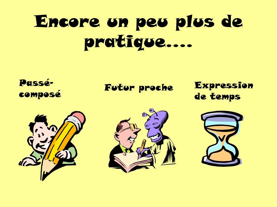 Mademoiselle Salley…ma professeur de français: va être a été est