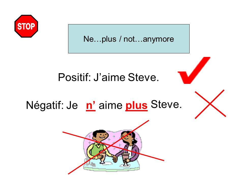 Ne…rien / not…anything Positif: Je fais mes devoirs Négatif: Jenefaisrien