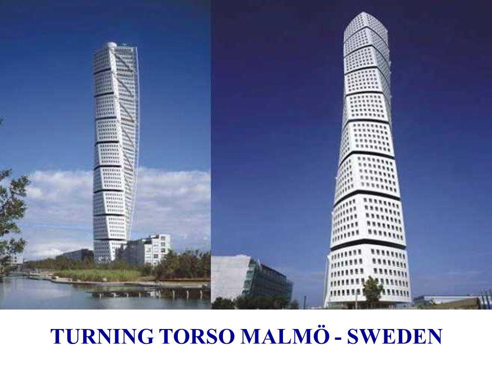 Turning Torso : à Malmö Suède, 2001 ÷ 2005 Turning Torso a remporté à Cannes en 2005 le prix MIPIM du meilleur bâtiment résidentiel.Cannes MIPIM Inspi
