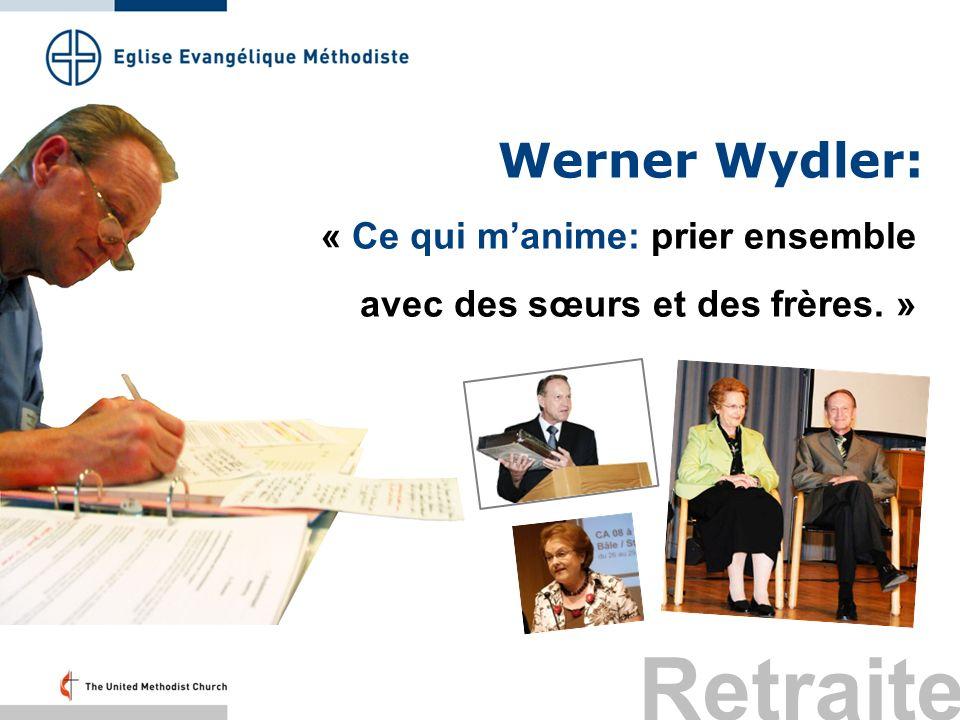 Werner Wydler: « Ce qui manime: prier ensemble avec des sœurs et des frères. » Retraite