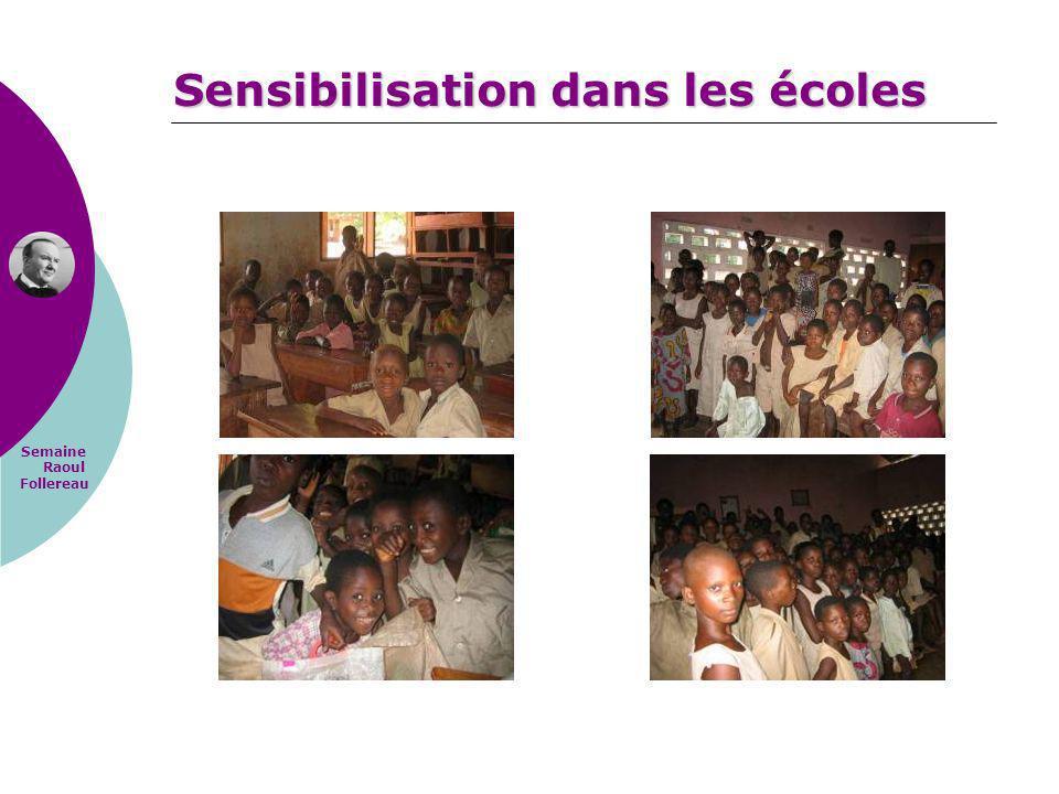 Semaine Raoul Follereau Sensibilisation dans les écoles