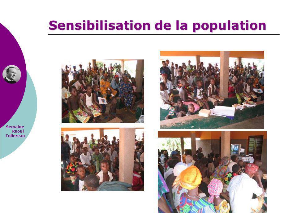 Semaine Raoul Follereau Sensibilisation de la population