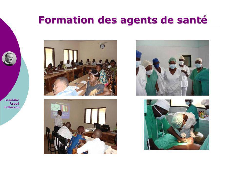 Semaine Raoul Follereau Formation des agents de santé