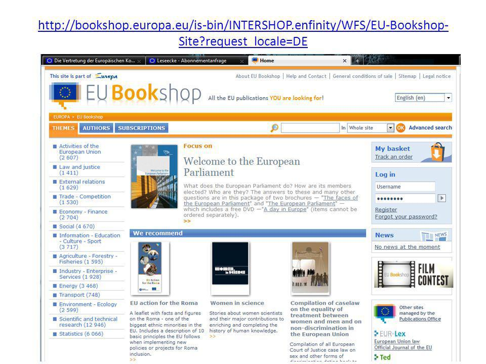 http://bookshop.europa.eu/is-bin/INTERSHOP.enfinity/WFS/EU-Bookshop- Site?request_locale=DE