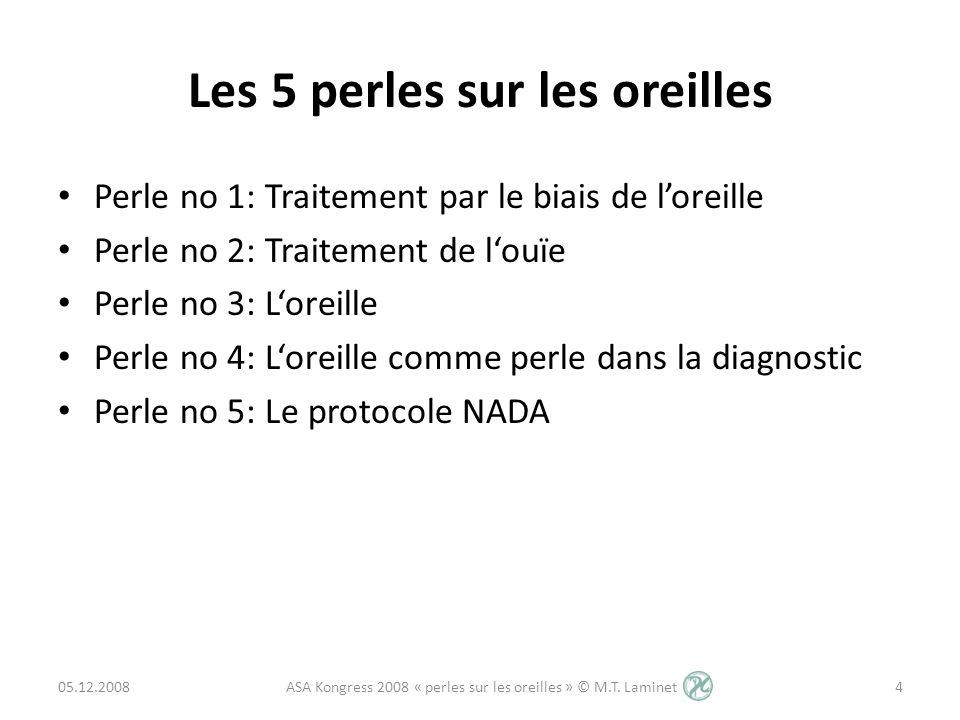 Perle no 4 - Loreille comme perle diagnostic Chaque marque dans loreille à une signification, comme p.