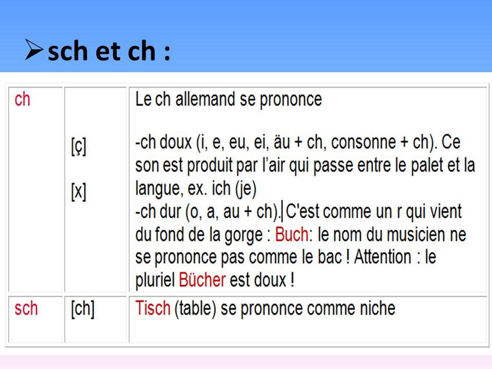 sch et ch :