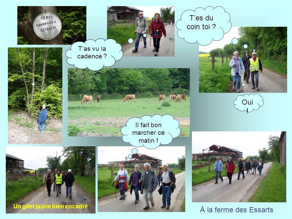Laissons derrière nous léglise Saint- Germain de Radepont du XII ème et quittons la vallée vers le plateau Michel nous décrit la Croix de consécration