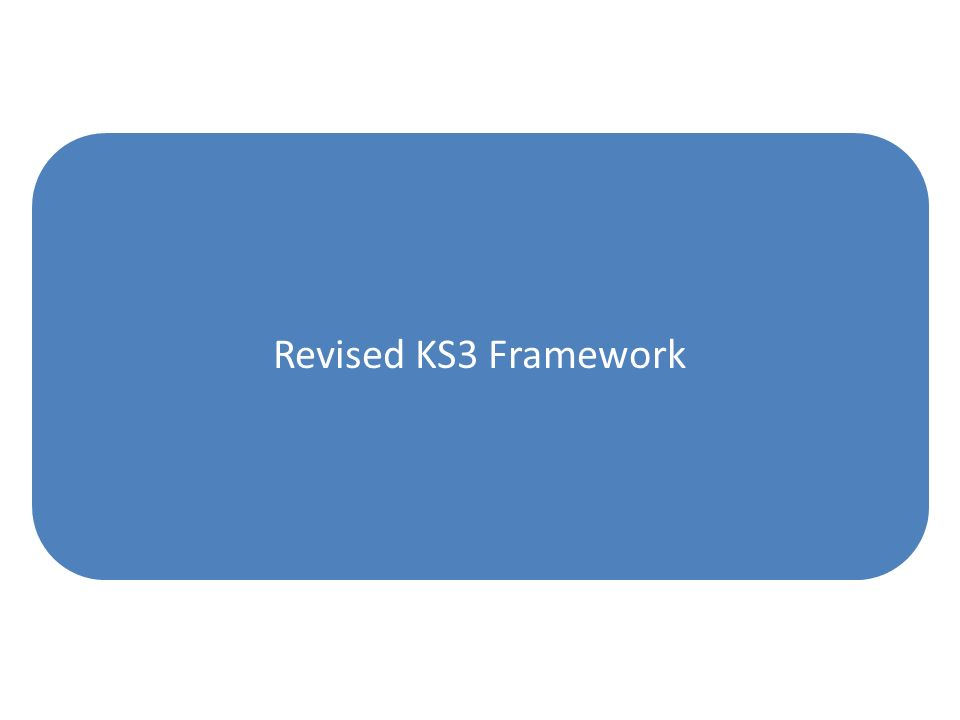 Revised KS3 Framework