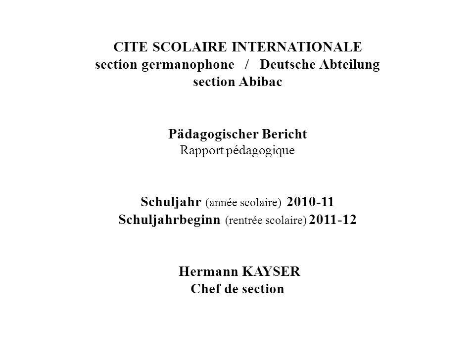 Schuljahr 2010 - 2012 Lehrer der Deutschen Abteilung Unterrichtsverteilung GRUNDSCHULE / ECOLE Klassenstufe Unt.Wo.Std.Name de3 Lehrers CP1.