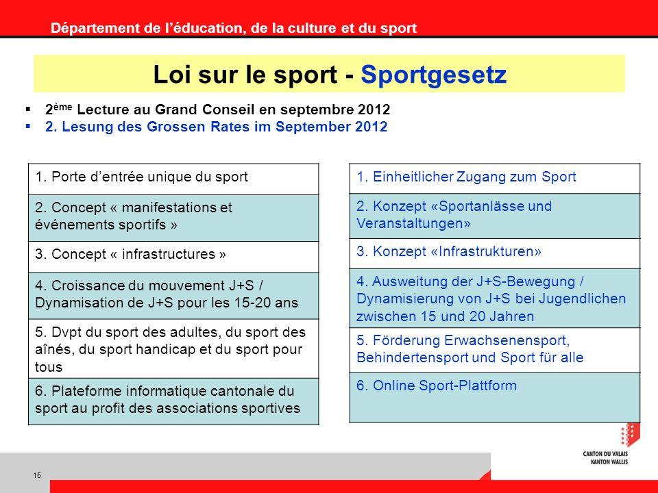 Département de léducation, de la culture et du sport 1.