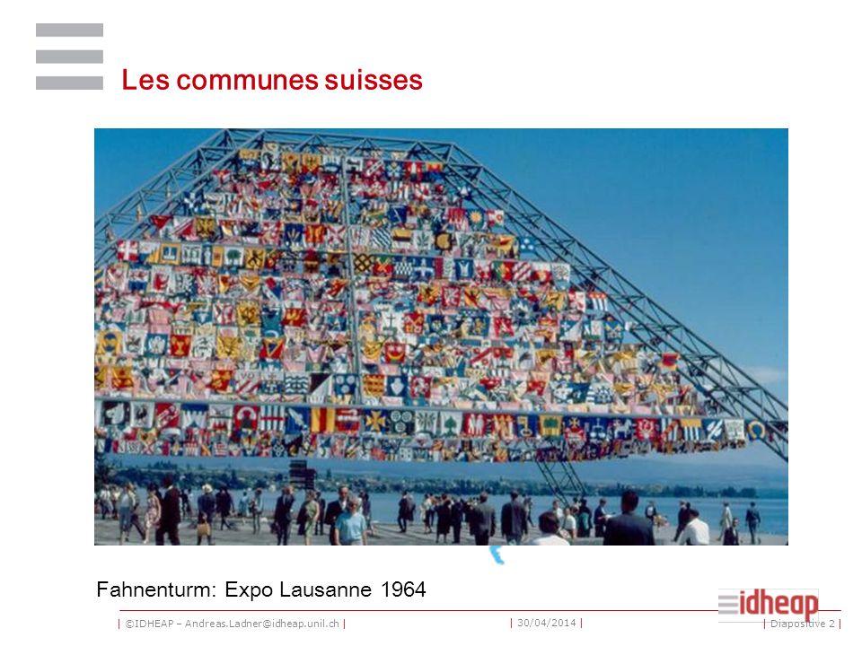 | ©IDHEAP – Andreas.Ladner@idheap.unil.ch | | 30/04/2014 | Taille des communes par cantons | Diapositive 13 |