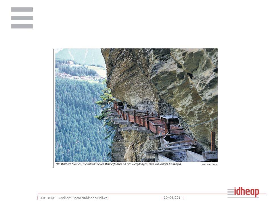 | ©IDHEAP – Andreas.Ladner@idheap.unil.ch | | 30/04/2014 | Des projets NGP dans les communes suisses (1998) Un tiers des communes a déjà abordé les propositions Un quart des communes a déjà fait des premiers pas