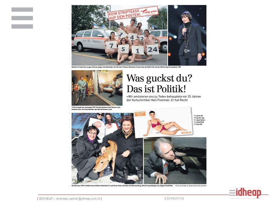   ©IDHEAP – Andreas.Ladner@idheap.unil.ch     30/04/2014   Un grand nombre de journaux partisans Au milieu des années 1960, on comptait 370 journaux politiques.