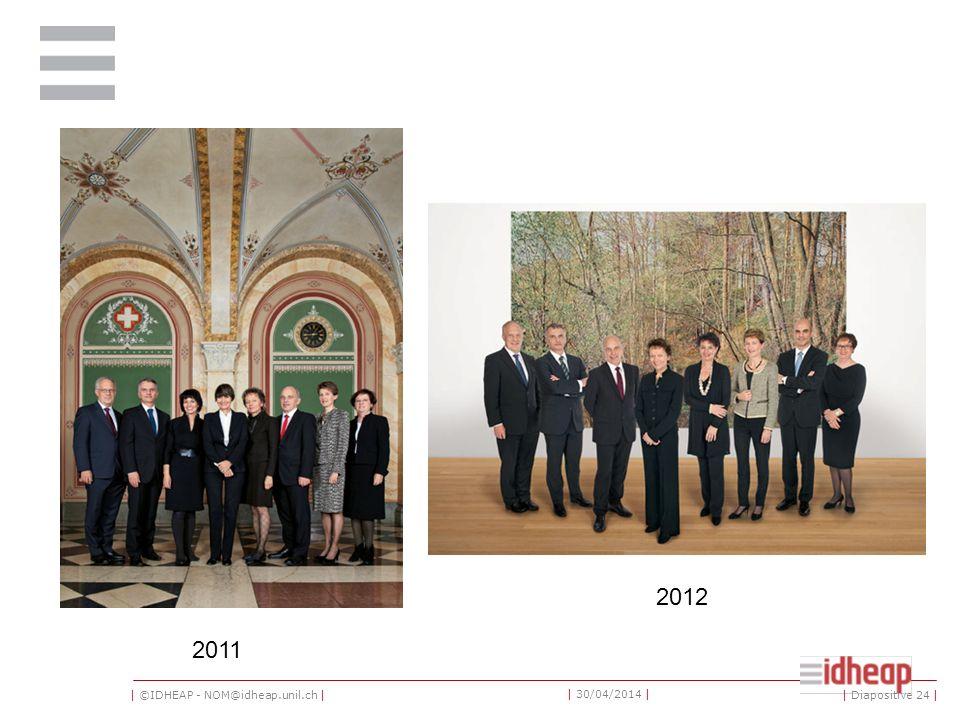 | ©IDHEAP - NOM@idheap.unil.ch | | 30/04/2014 | | Diapositive 24 | 2011 2012