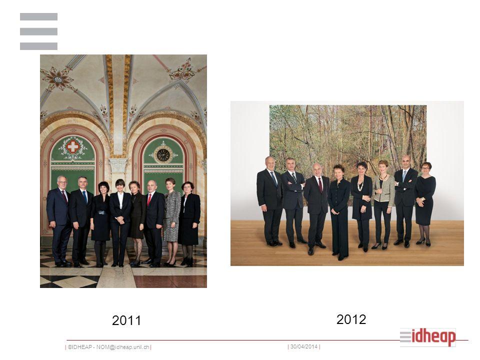 | ©IDHEAP - NOM@idheap.unil.ch | | 30/04/2014 | 2011 2012