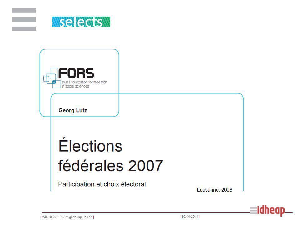 | ©IDHEAP - NOM@idheap.unil.ch | | 30/04/2014 | Creuser un tunnel Le vote électronique Smartvote