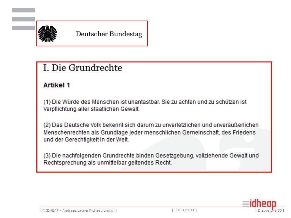 | ©IDHEAP – Andreas.Ladner@idheap.unil.ch | | 30/04/2014 | | Diapositive 53 |