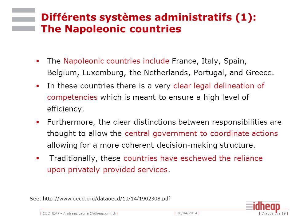 | ©IDHEAP – Andreas.Ladner@idheap.unil.ch | | 30/04/2014 | La science administrative contemporaine: quatre sous-domaines Ladministration publique (com