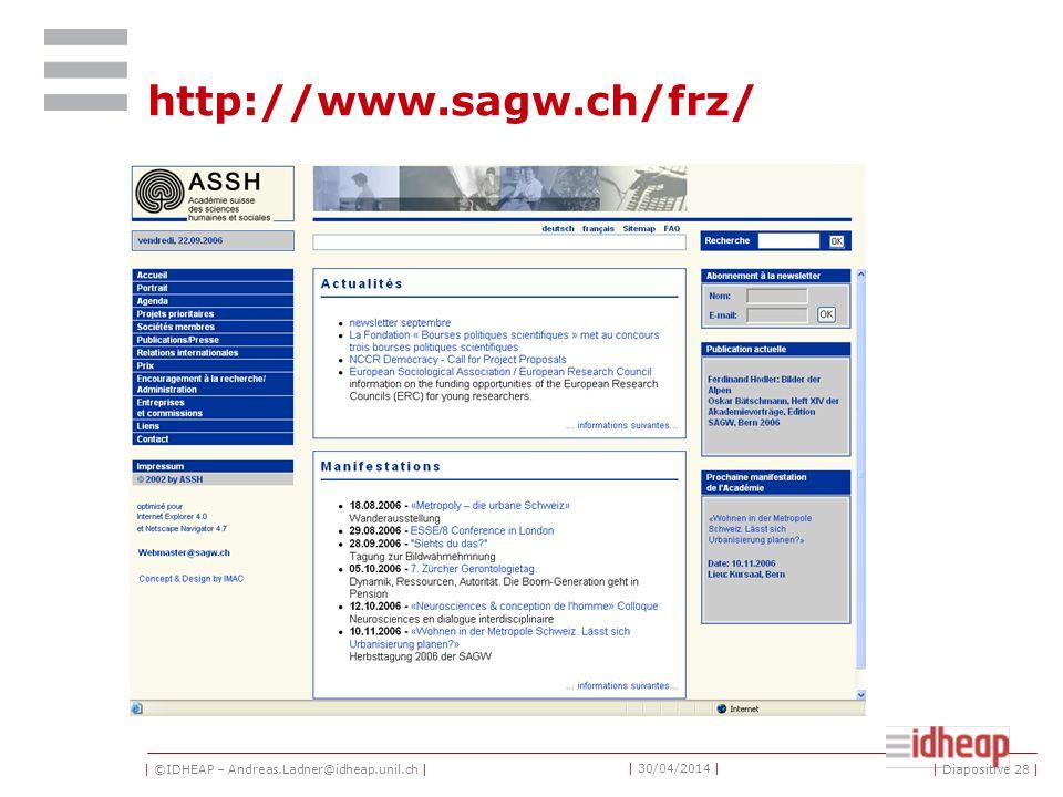 | ©IDHEAP – Andreas.Ladner@idheap.unil.ch | | 30/04/2014 | European conferences ECPREGPA | Diapositive 27 |