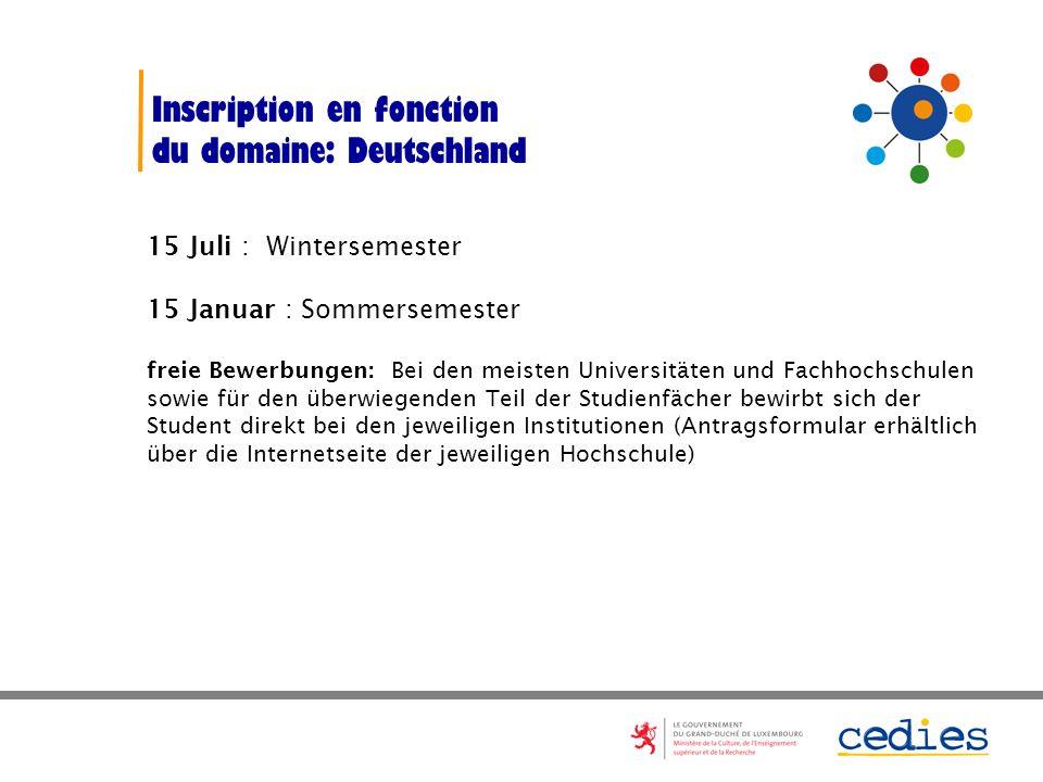 Université du Luxembourg Les dates seront communiquées ultérieurement par le SEVE Numerus clausus et concours dentrée pour certaines formations www.un