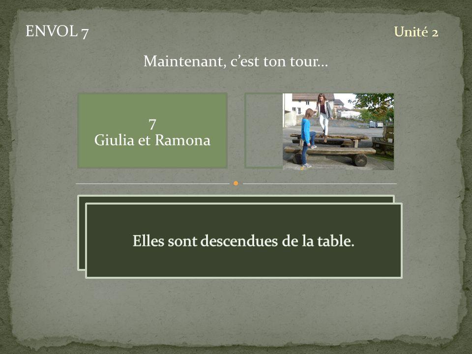 ENVOL 7 Unité 2 7 Giulia et Ramona Maintenant, cest ton tour… pic