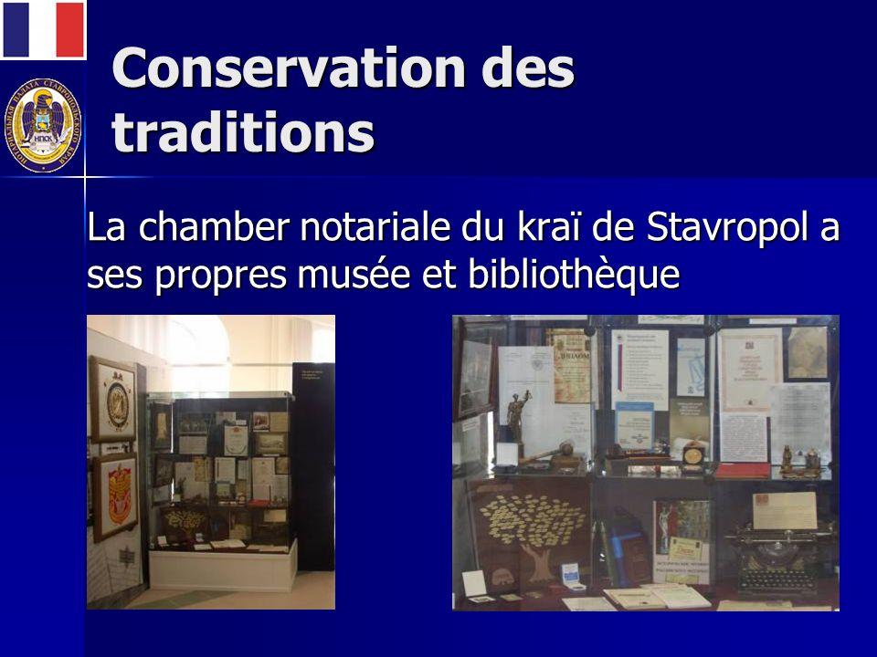 Conservation des traditions La chamber notariale du kraï de Stavropol a ses propres musée et bibliothèque