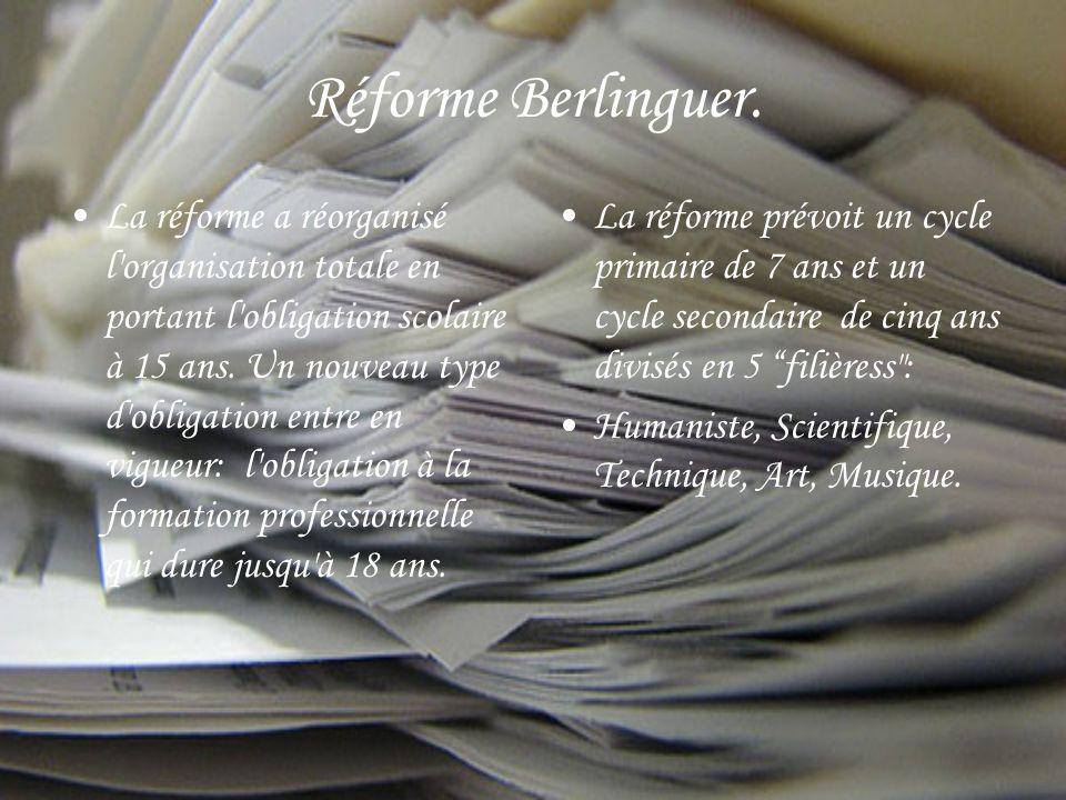 Réforme Berlinguer.