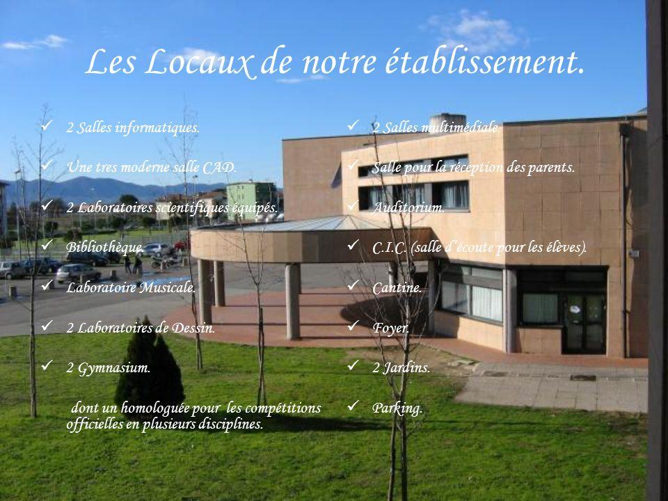 Les Locaux de notre établissement.2 Salles informatiques.