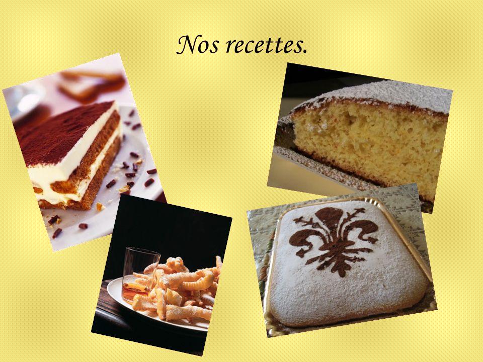 Nos recettes.