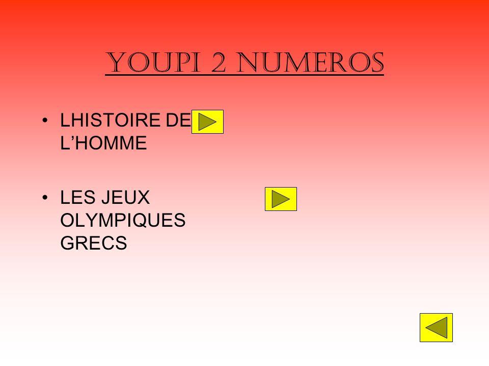 YOUPI 2 NUMEROS LHISTOIRE DE LHOMME LES JEUX OLYMPIQUES GRECS