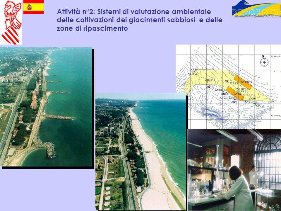 Attività n°2: Sistemi di valutazione ambientale delle coltivazioni dei giacimenti sabbiosi e delle zone di ripascimento