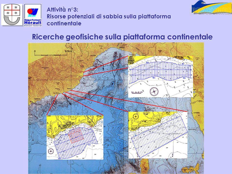 Attività n°3: Risorse potenziali di sabbia sulla piattaforma continentale Ricerche geofisiche sulla piattaforma continentale