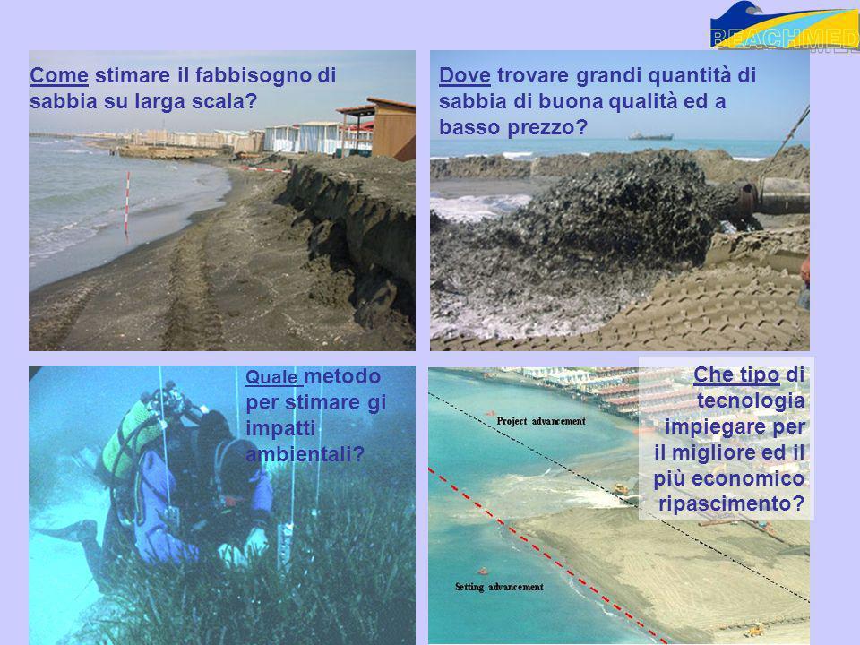 Come stimare il fabbisogno di sabbia su larga scala? Dove trovare grandi quantità di sabbia di buona qualità ed a basso prezzo? Quale metodo per stima