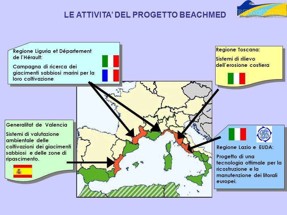 Regione Toscana: Sistemi di rilievo dellerosione costiera Generalitat de Valencia Sistemi di valutazione ambientale delle coltivazioni dei giacimenti