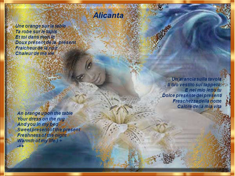 Alicanta Pour toi mon Amour Sincro French English Italian