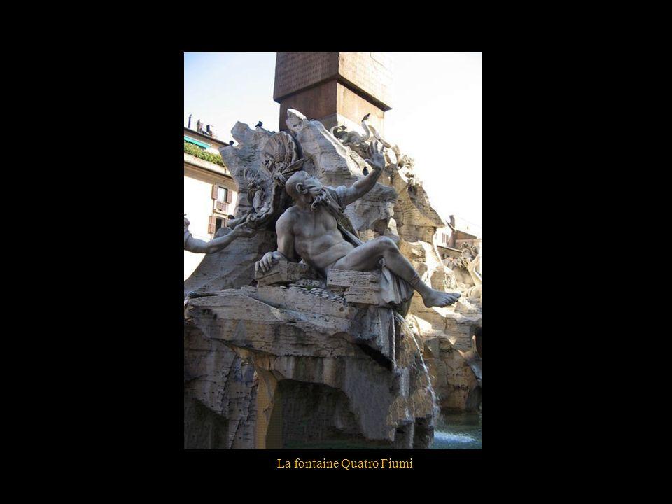 La fontaine Quatro Fiumi