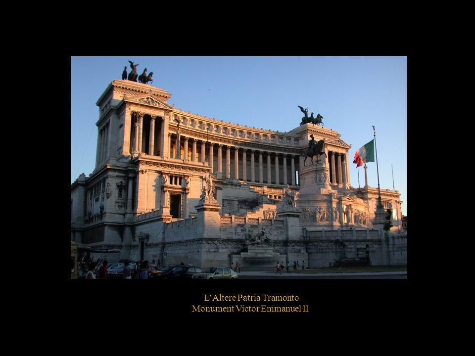 LAltere Patria Tramonto Monument Victor Emmanuel II