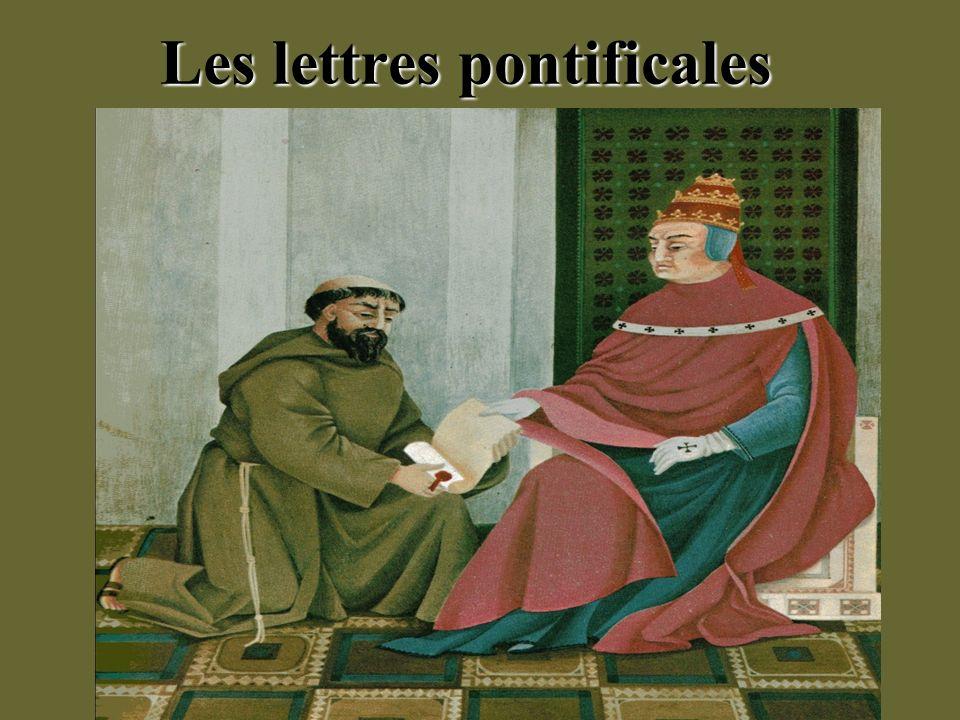 Les lettres pontificales