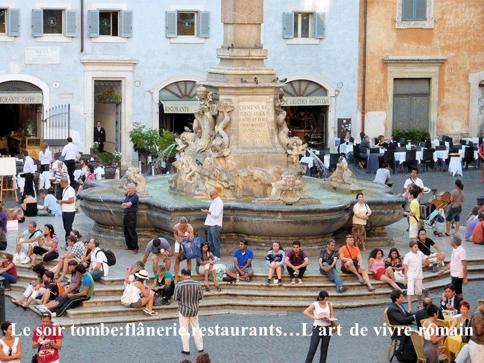Coucher de soleil sur la piazza Navona