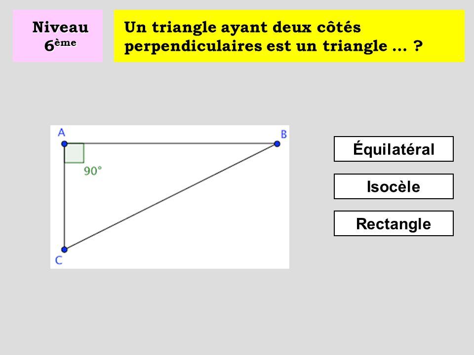Un triangle dont les trois côtés ont la même longueur est un triangle … .