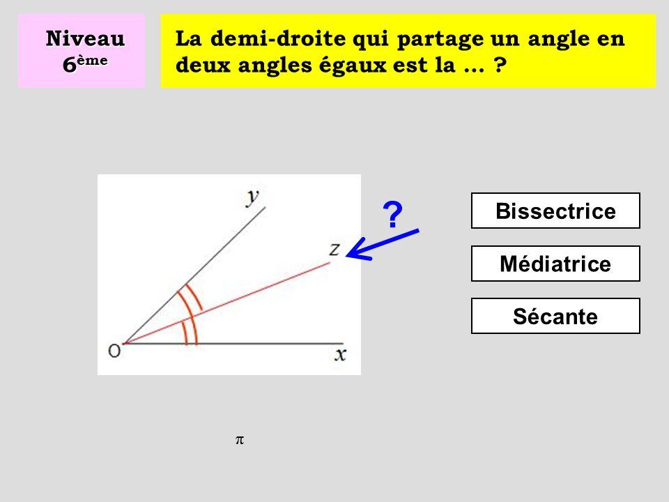 Quel est le périmètre du rectangle ? P = 2 x (L + l) P = L + l P = 4 x (L + l) Niveau 6 ème